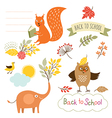 set of back to school elements vector image vector image