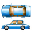 A blue sedan car vector image