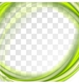 Abstract bright green waves design vector image vector image