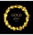 Glow luxury shiny golden ring design vector image