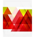 Transparent overlapping triangles on white vector image vector image