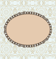 Oval vintage style frame vector image