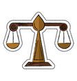 Cartoon justice scale law symbol vector image