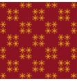 Christmas gold snowflakes vector image