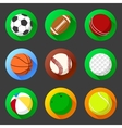 Flat and round sport icons vector image