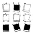 hand drawn photo frames vintage vector image