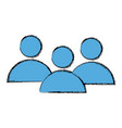 people pictogram community group avatar vector image