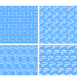 set of abstract water seamless patterns vector image