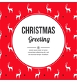 Vintage Christmas colors seamless pattern vector image