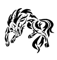High quality Wolf tattoo vector image