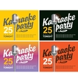 microphone for karaoke parties vector image