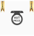 Hot price sticker Badge Label vector image