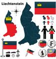 Map of Liechtenstein vector image vector image