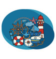 sea and nautical design set vector image
