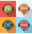 Call Center Customer Service Support Flat Icon set vector image