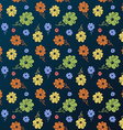 flower pattern Vintage seamless background vector image