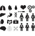 Human organs and medical tools vector image