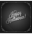halloween movie screen vintage background vector image