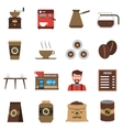Coffee Shop Flat Icons Set vector image