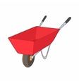 Red wheelbarrow icon cartoon style vector image