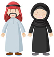 Arab man and woman vector image