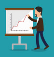 business people with paperboard training icon vector image