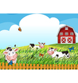 Cows at the farm vector image