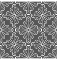 Geometric Pattern with Flowers vector image