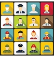 Professions icons set flat style vector image