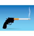 Gun and cigarette vector image vector image