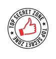 Top Secret Zone rubber stamp vector image