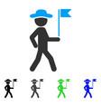Gentleman flag guide flat icon vector image