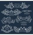 Set of Vintage Victorian ornaments Wedding design vector image vector image
