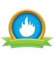 Gold fire logo vector image