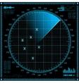 Blue radar screen HUD interface vector image