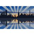 New York Sunset Profile vector image