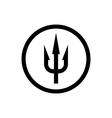 Simple trident sign Black symbol in a circle vector image
