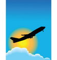 Airplane travel poster vector image