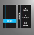 Business card template - blue and grey vector image