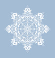 decorative snowflake isolated on white background vector image