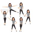 Fitness instructor A slender girl vector image