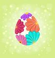 floral beautiful ornate easter egg background vector image