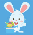 magician bunny style easter theme vector image