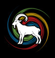 mountain goat ibex standing vector image