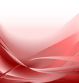 Red waves abstract background vector image