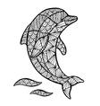Stylized Dolphin zentangle vector image