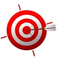 Target with arrow vector image