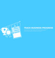 track business progress banner vector image