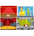 cartoon set of theater and disco background vector image