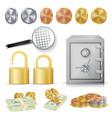 money secure concept gold silver copper vector image